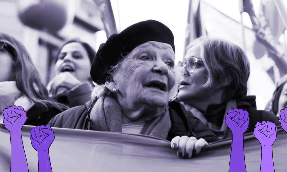 A advogada Nelly Minyersky em manifestação a favor da legalização do aborto em Buenos Aires, em 2018 Foto: Reprodução/La Nacion