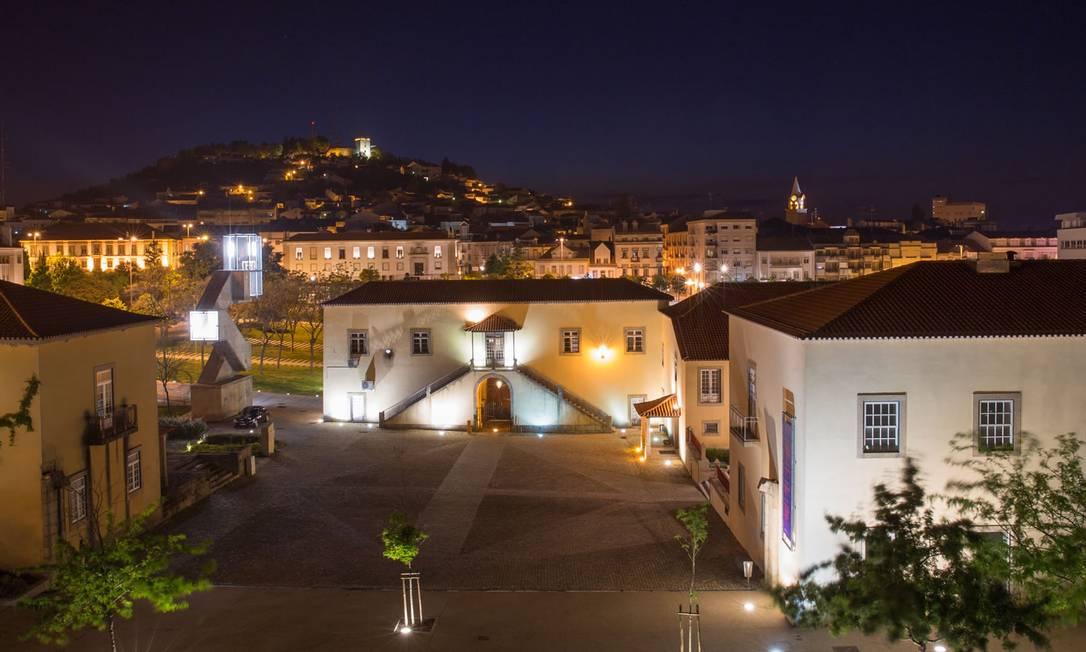 Paisagem noturna de Castelo Branco, na região central de Portugal Foto: Divulgação