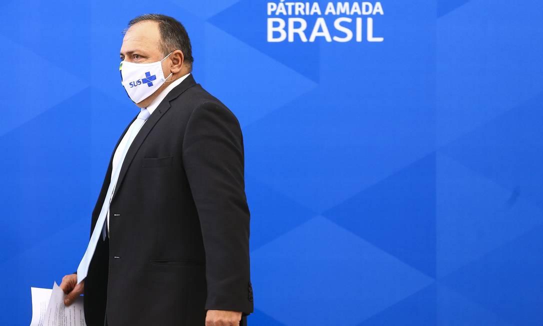 O ministro da Saúde, general Eduardo Pazuello