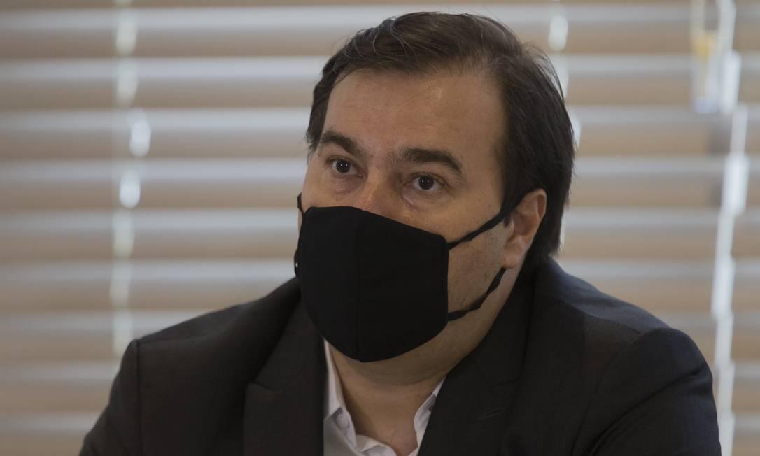 O presidente da Câmara, Rodrigo Maia Foto: Edilson Dantas / Agência O Globo