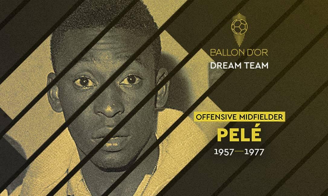 Pelé é eleito em time da história da France Football Foto: Divulgação/France Football