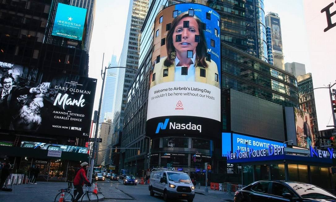 Times Square vazia: novos rumos para os prédios de Nova York Foto: KENA BETANCUR / AFP