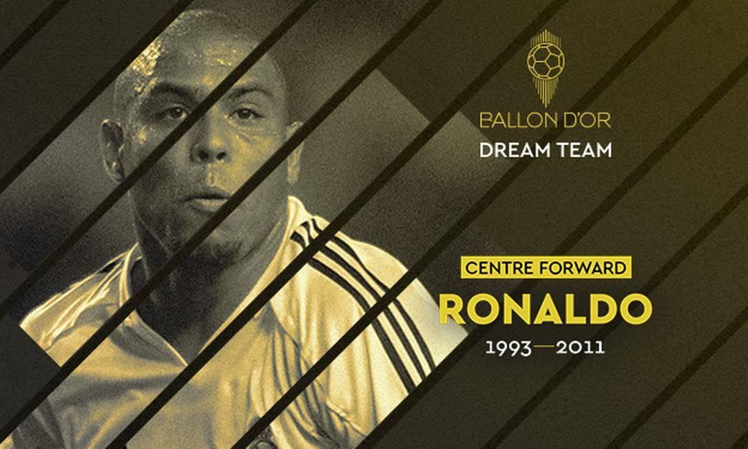 Ronaldo é eleito centroavante de time histórico da France Football Foto: Divulgação/France Football