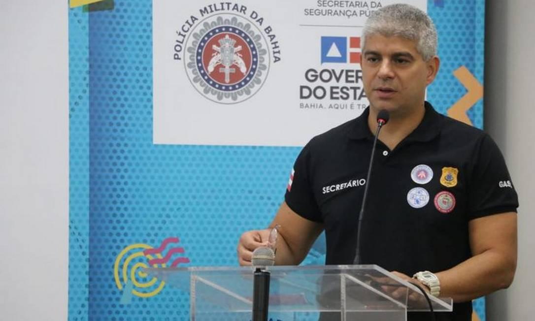 Secretário de Segurança Pública da Bahia, Maurício Teles Barbosa Foto: SSP-BA/ Alberto Maraux