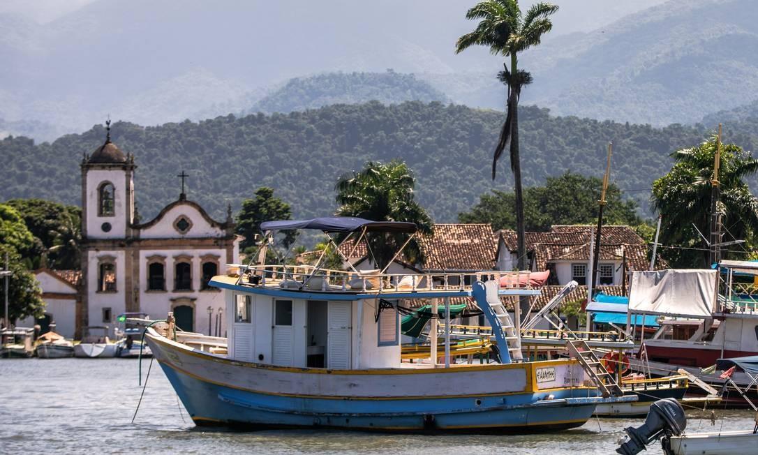 Centro histórico de Paraty, na Costa Verde, um dos destaques do turismo no Estado do Rio Foto: Lucíola Villela / Agência O Globo