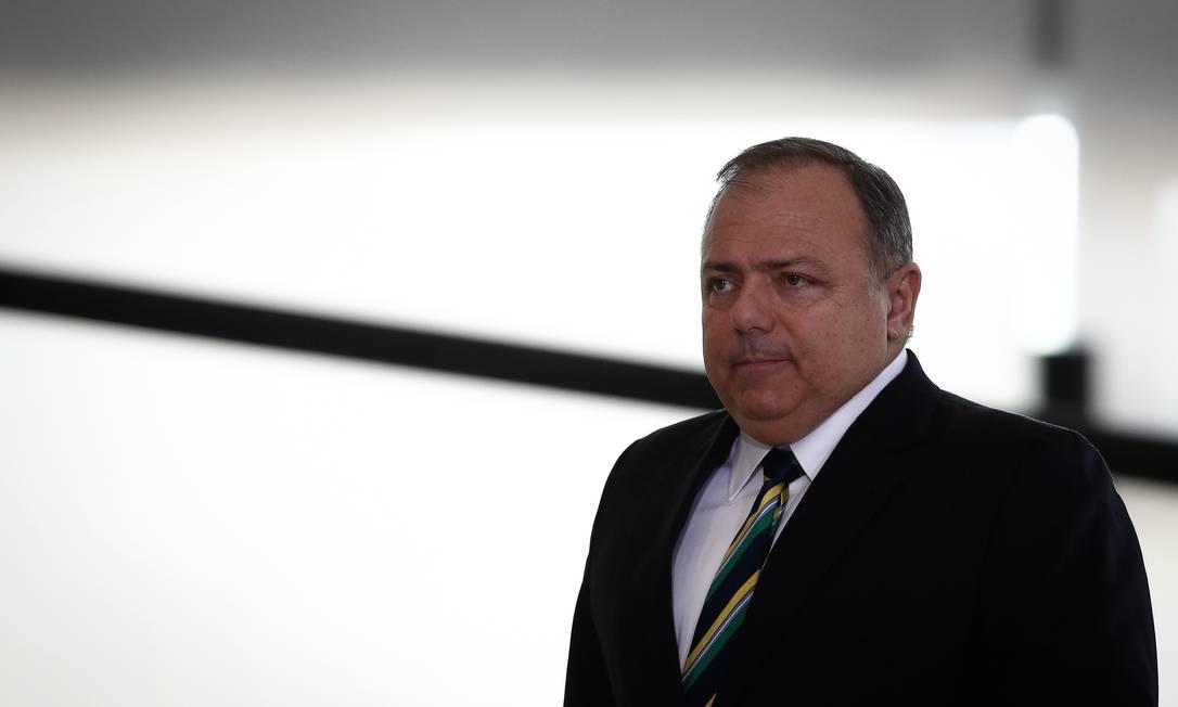 O ministro da Saúde, Eduardo Pazuello, no Palácio do Planalto Foto: Pablo Jacob/Agência O Globo