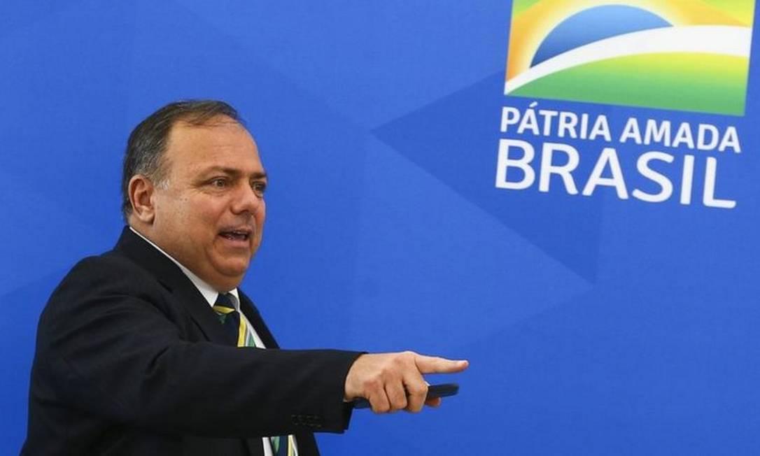 General Pazuello chegou ao Ministério da Saúde em abril, quando a pasta era comandada por Nelson Teich, na posição de secretário-executivo Foto: MARCELO CAMARGO/AG. BRASIL