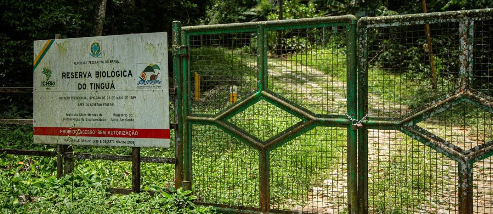 Fechamento da sede da Reserva Biológica (Rebio) do Tinguá pode deixa área em risco ambiental Foto: Hermes de Paula / Agencia O Glob / Agência O Globo