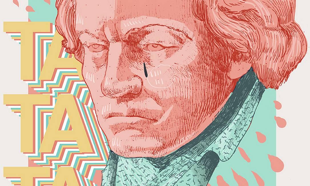 Cartaz de Alicia Caboblanco em homenagem aos 250 anos do compositor alemão Beethoven Foto: Reprodução