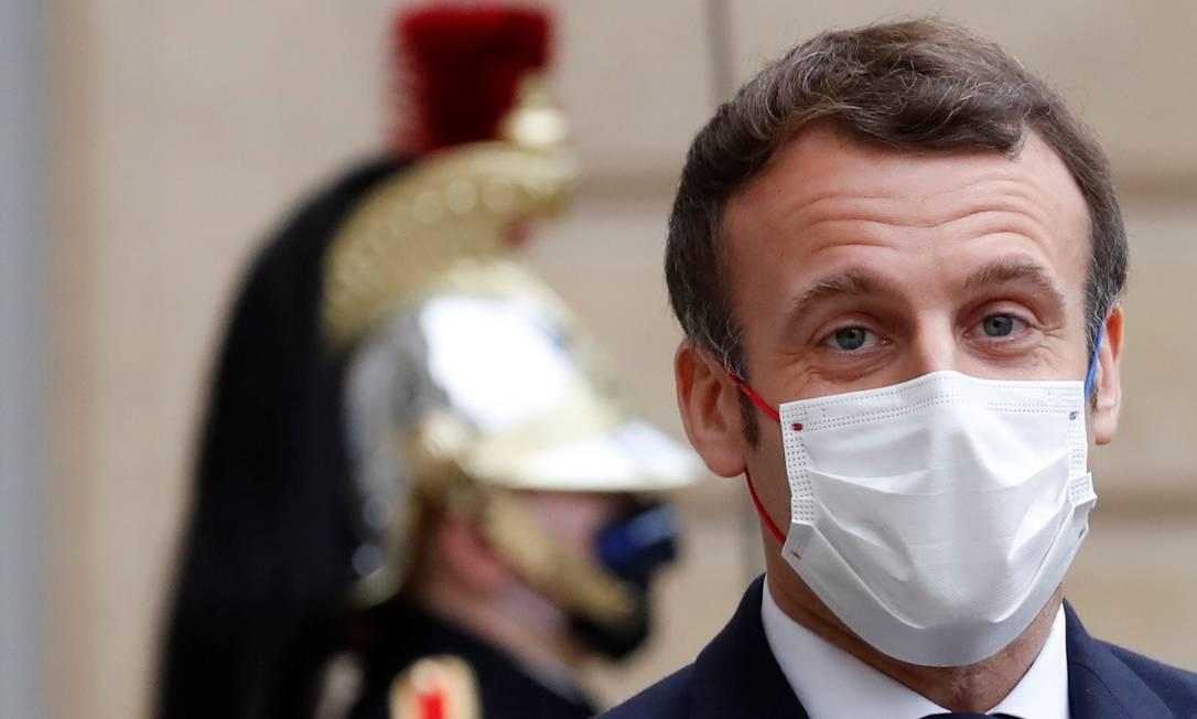 O presidente da França, Emmanuel Macron, é um dos principais críticos da política ambiental brasileira Foto: Christian Hartmann / Reuters