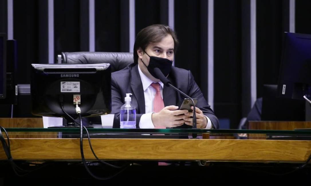 O presidente da Câmara, Rodrigo Maia (DEM) Foto: Agência Câmara 17/12/2020