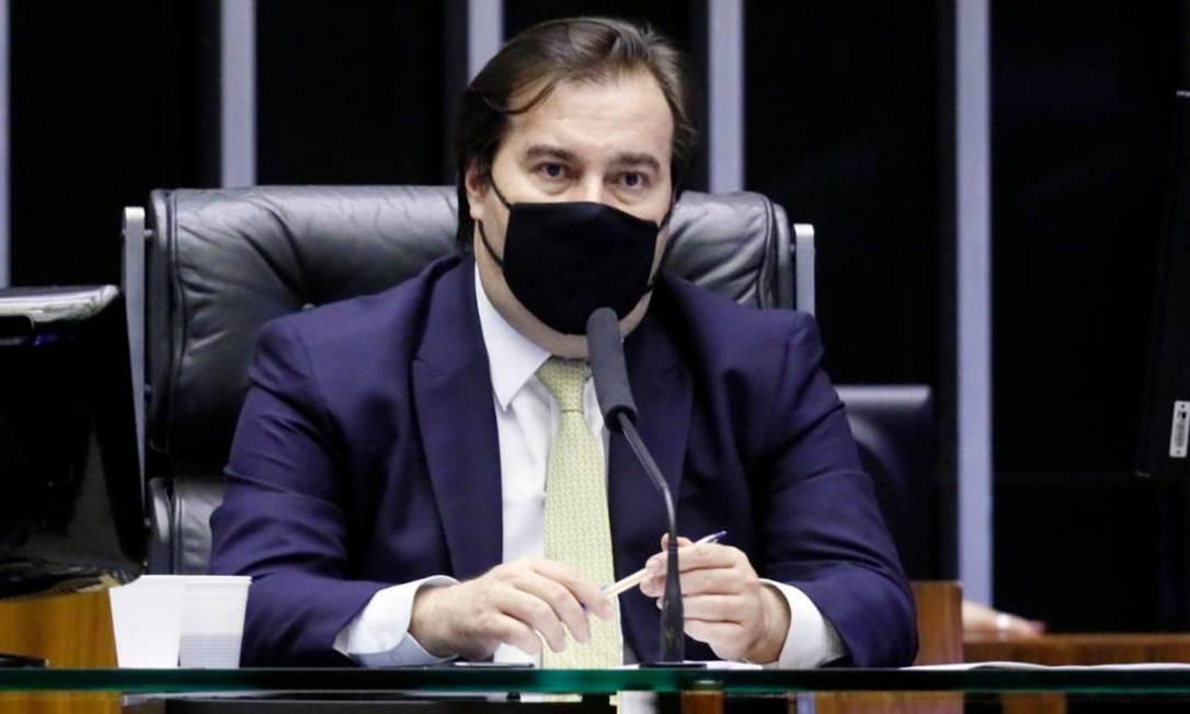 O presidente da Câmara, Rodrigo Maia (DEM) Foto: Agência Câmara