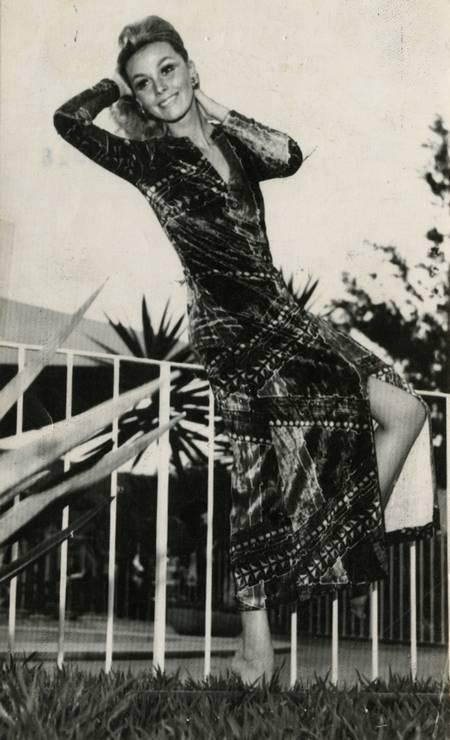 """Ângela Diniz em foto de 1973. Socialite foi morta por Doca Street em 1976: no primeiro julgamento, assassino foi condenado a dois anos porque jurados entenderam que ele agiu """"em legítima defesa da honra Foto: Reprodução"""
