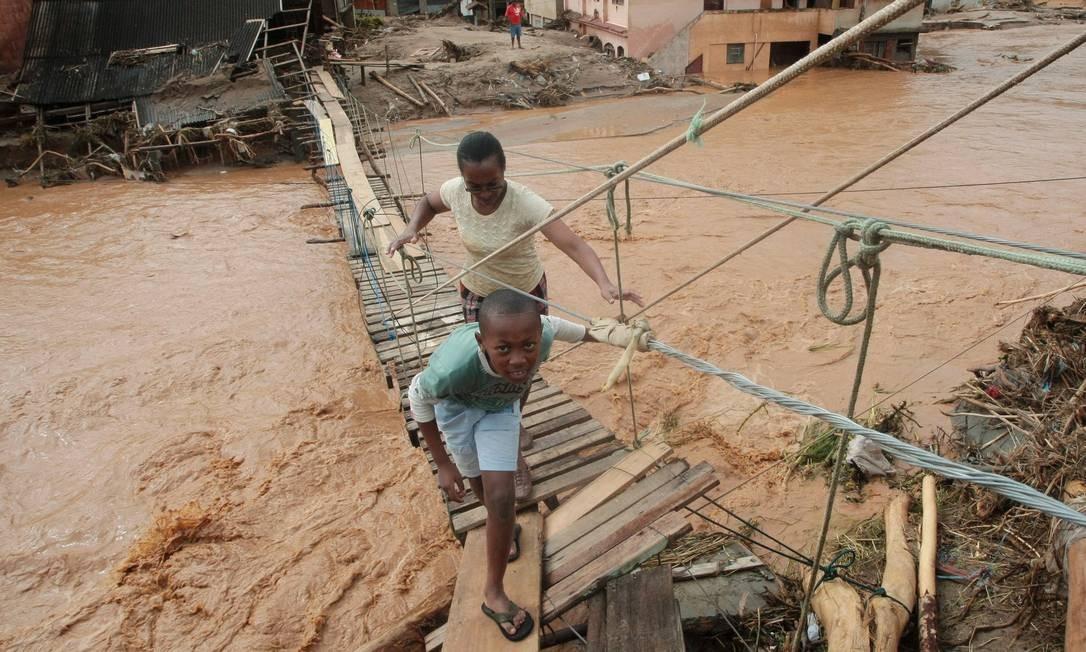 Córrego Dantas: bairro foi arrasado pelas fortes chuvas de janeiro de 2011 Foto: Pedro Kirilos / Agência O Globo - 15/01/2011