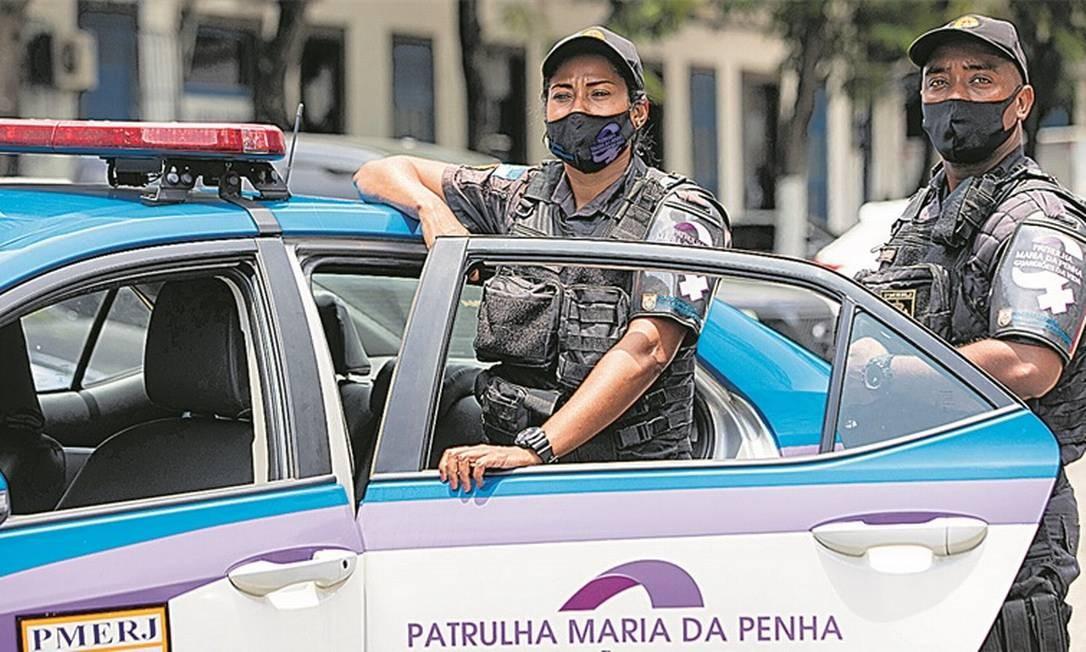 Tropa, que tem sempre uma mulher, garante execução de medidas protetivas para vítimas Foto: Agência O Globo