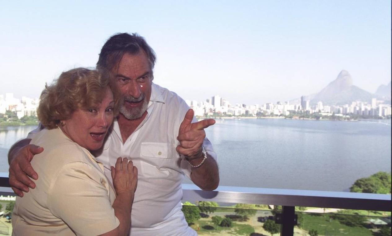 Nicette e Paulo eram conhecidos pela simpatia e bom humos Foto: Marcelo Theobald / Infoglobo