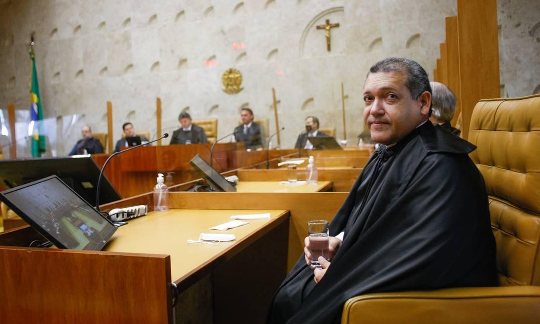 O ministro Kassio Nunes Marques durante sessão solene de posse no STF 05/11/2020 Foto: Divulgação