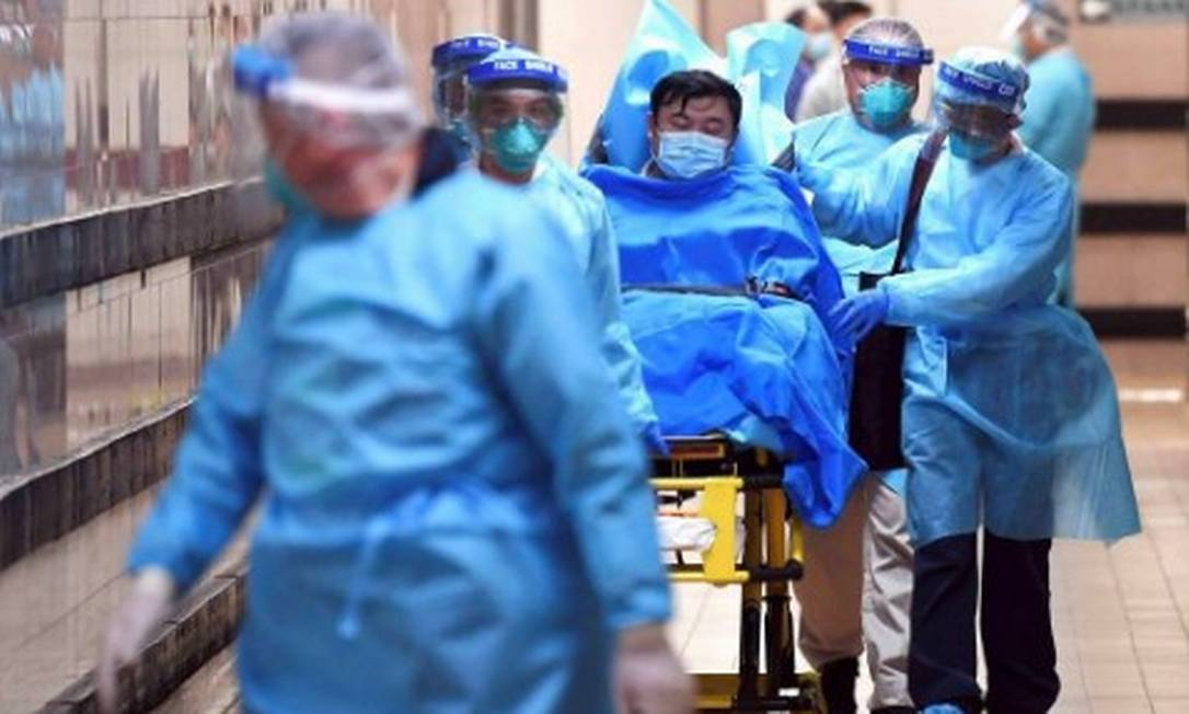 Paciente com alta suspeita de contágio pelo coronavírus é internado em janeiro em hospital de Hong Kong Foto: Reuters
