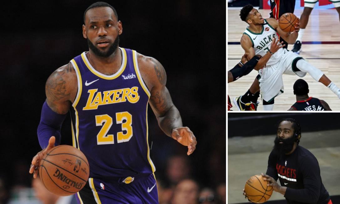 NBA retorna para nova temporada nesta terça-feira Foto: Gary A. Vasquez/USA TODAY Sports; Kim Klement/USA TODAY Sports; Carmen Mandato/AFP