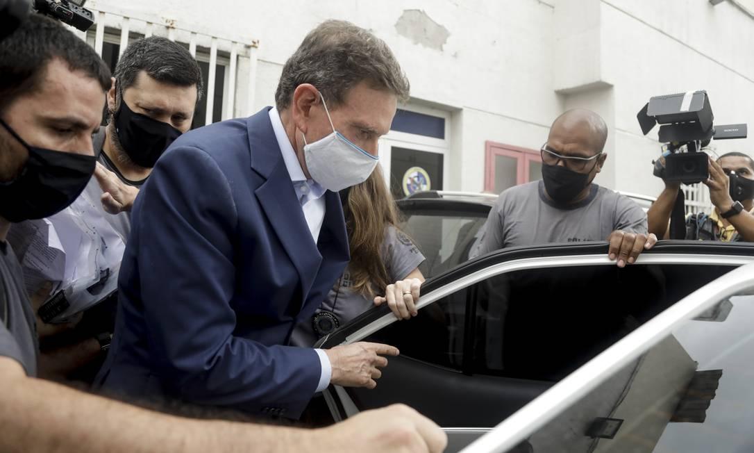 Prefeito Marcelo Crivella preso em 22 de dezembro de 2020 Foto: Gabriel de Paiva / Agência O Globo