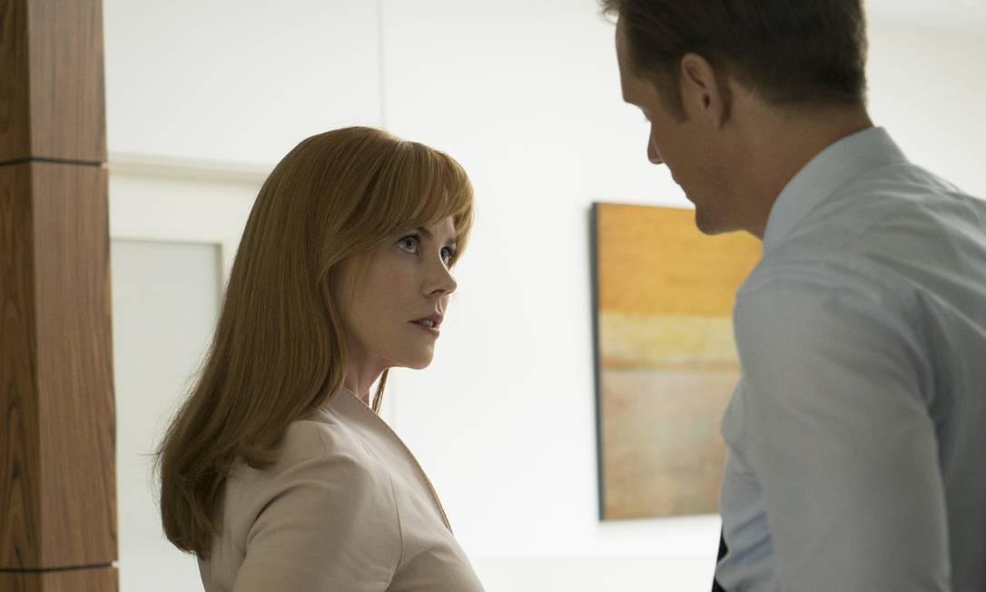 Nicole Kidman como a advogada Celeste, uma sobrevivente de violência doméstica na série 'Big Little Lies' Foto: Hilary Bronwyn Gayle / Divulgação/HBO