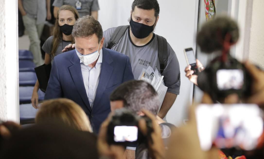 Prefeito Marcelo Crivella, preso nesta terça-feira, por suposto envolvimento no 'QG da Propina' Foto: Marcia Foletto / Agência O GLOBO