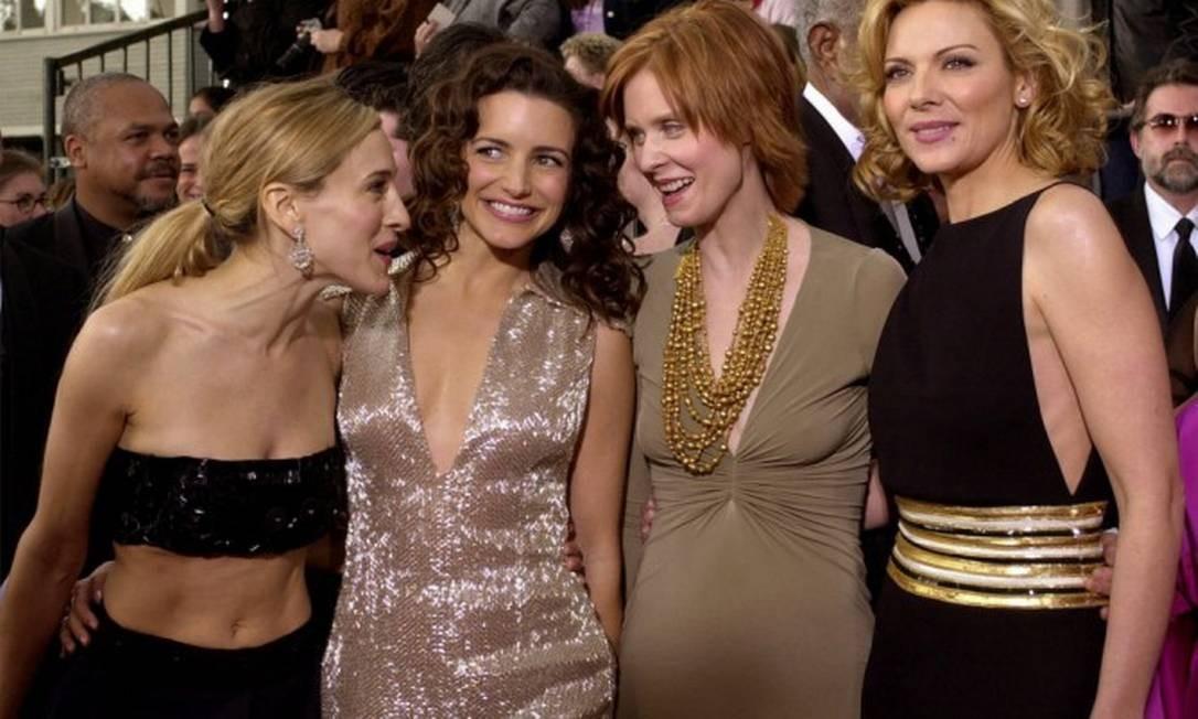Sarah Jessica Parker, Kristin Davis, Cynthia Nixon and Kim Cattrall Foto: Kevork Djansezian