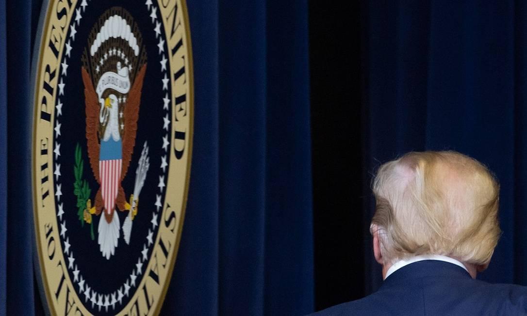 Trump: obsessão em não sair do cargo como perdedor Foto: SAUL LOEB / AFP
