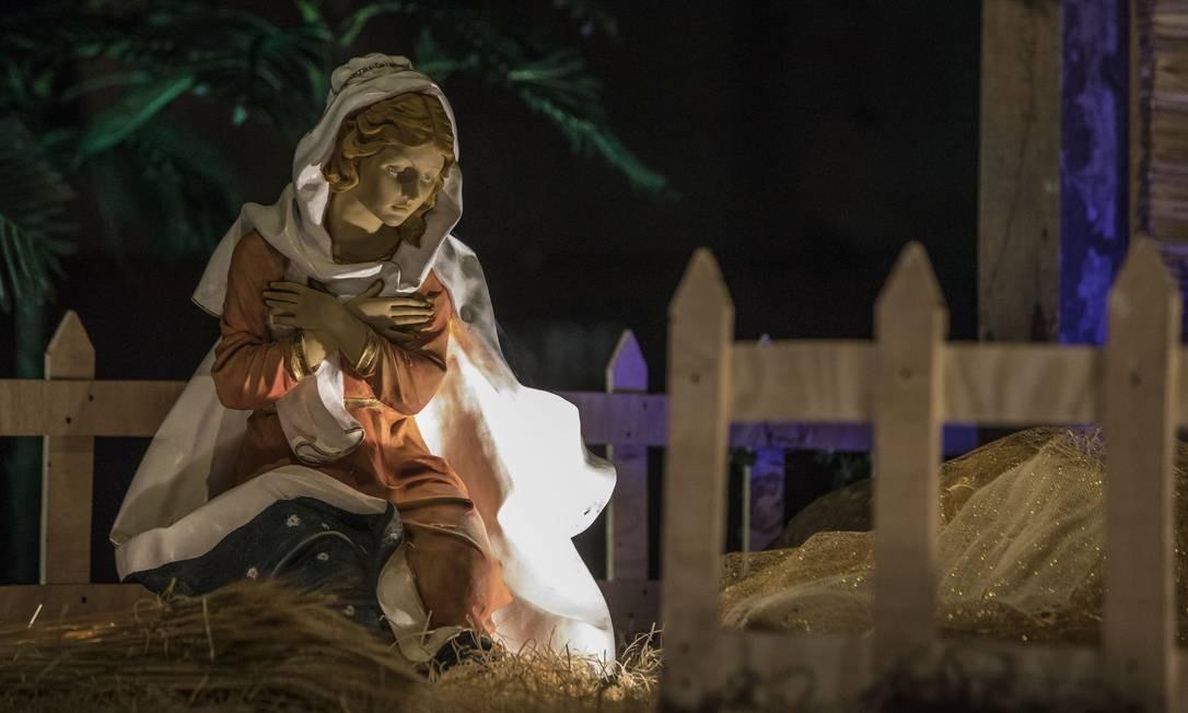 Expressão em imagem na Catedral Metropolitana Foto: Ana Branco / Agência O Globo