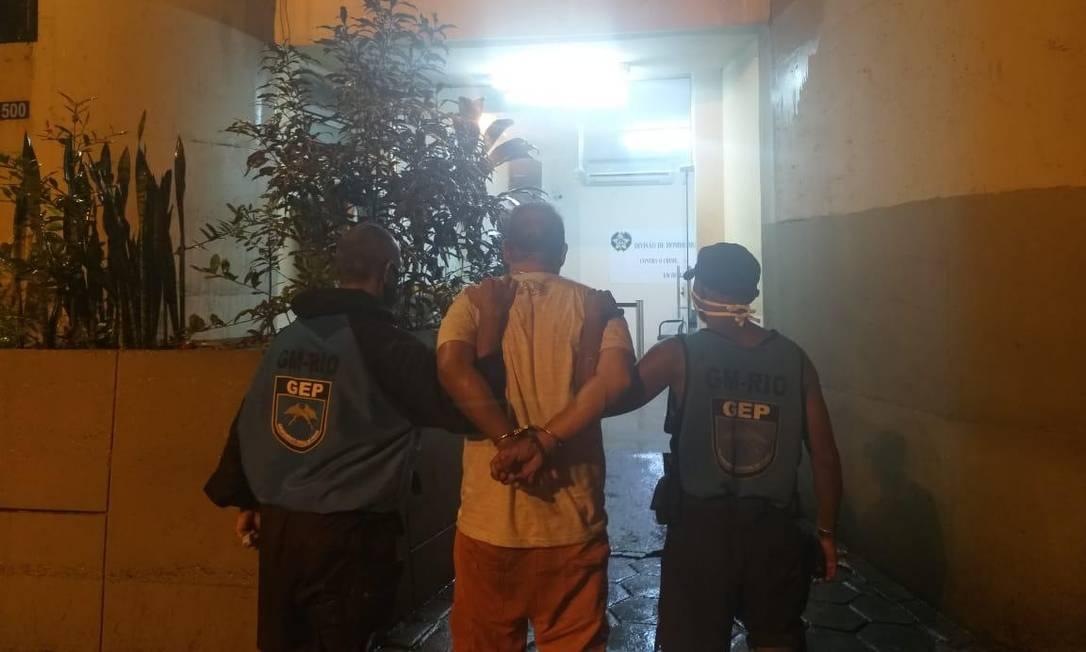 Paulo José Arronenzi, de 52 anos, foi preso após matar a ex-mulher, Viviane Foto: Divulgação/Guarda Municipal