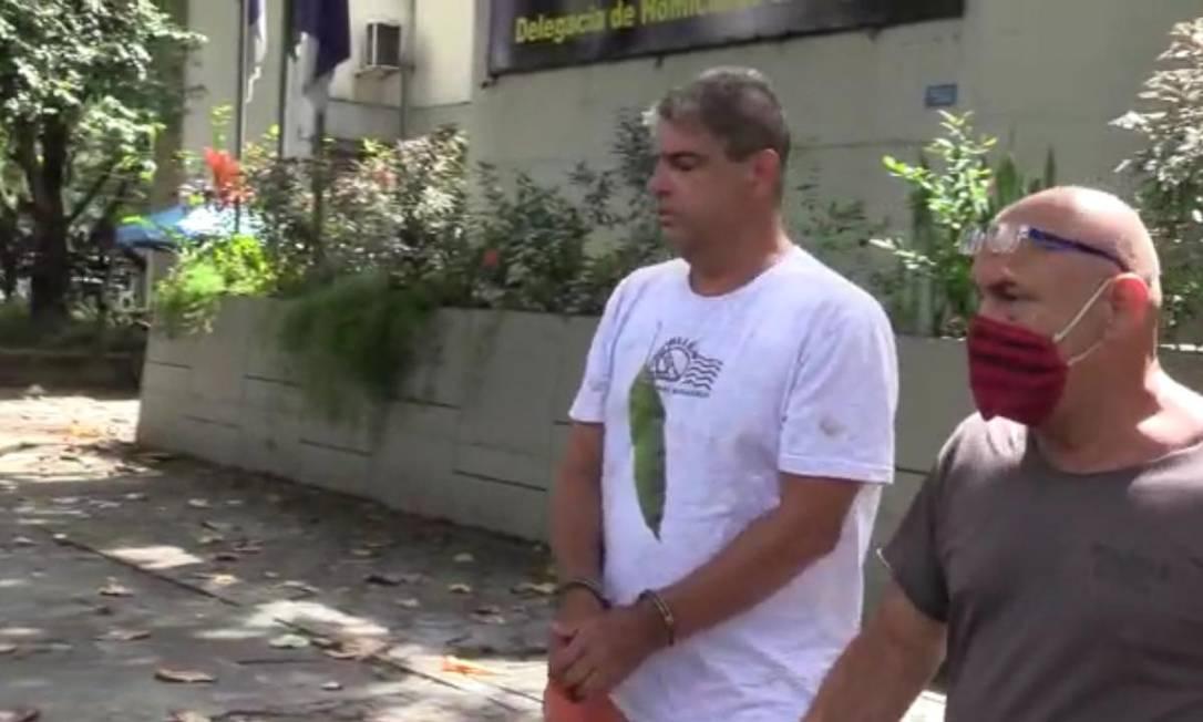Paulo José Arronenzi foi transferido para a Cadeia Pública José Frederico Marques, em Benfica Foto: Reprodução/Polícia Civil