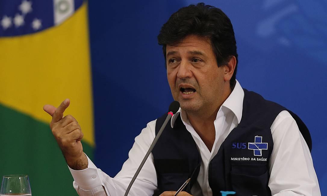 O exx-ministro da Saúde, Luiz Henrique Mandetta Foto: Jorge William / Agência O Globo