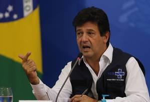El exministro de Salud Luiz Henrique Mandetta.  Foto: Jorge William / Agência O Globo