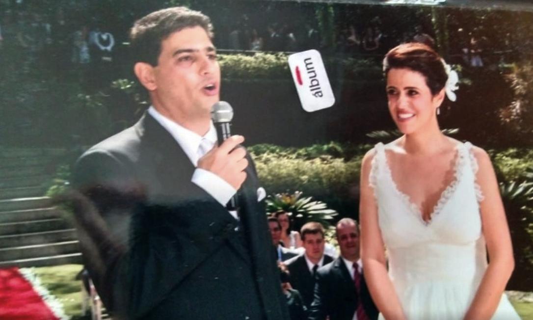 Casamento em agosto de 2009: Cena contrasta com a tragédia que marcou a história da família na quinta-feira, véspera de Natal Foto: Álbum de família