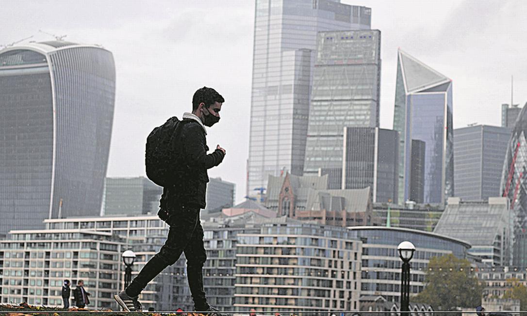Coração financeiro de Londres passará por mudanças com a nova cepa da lCovid e o Brexit Foto: AFP