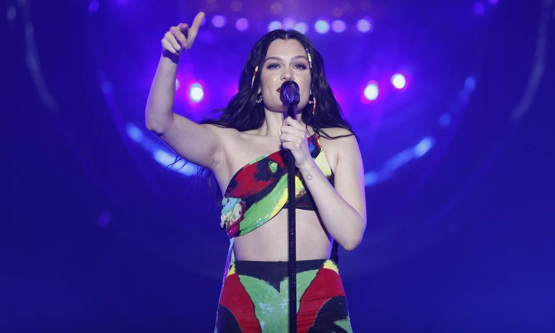 Cantora Jessie J no palco do Rock in Rio 2019 Foto: Brenno Carvalho / Brenno Carvalho