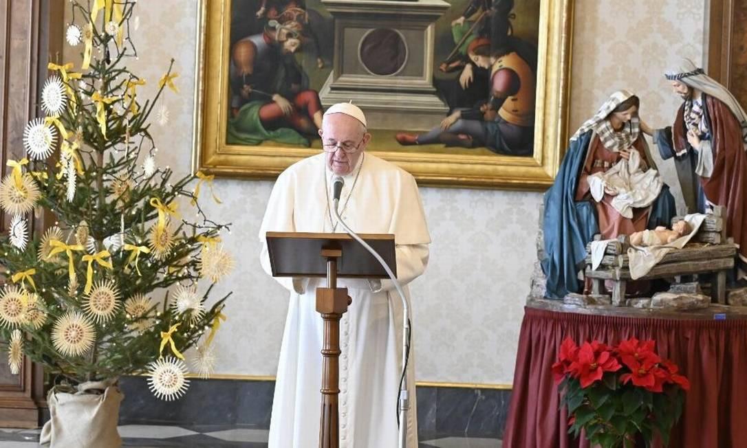 Papa Francisco na audiência geral do Vaticano desta quarta (30) Foto: Vatican News