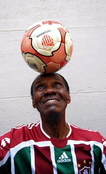 12/12 - Escurinho, ex-Fluminense, aos 90, de Alzheimer Foto: Alexandre Durão / Agência O Globo
