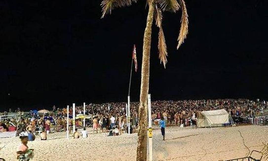 Festa na praia de Ipanema Foto: Reprodução