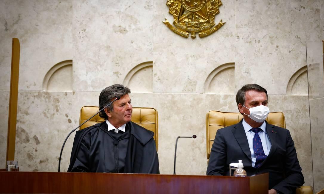 Posse de Luiz Fux como novo Presidente de STF Foto: Pablo Jacob / Agência O Globo/10-09-2020