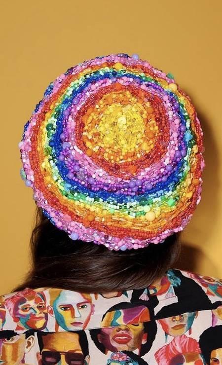 Boina bordada criada pela La Pomponera Foto: Reprodução