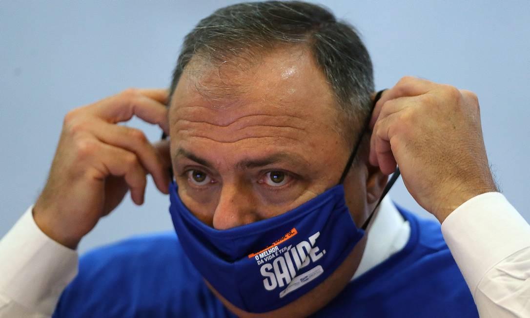 Ministro da saúde Eduardo Pazuello Foto: Jorge William / Agência O Globo