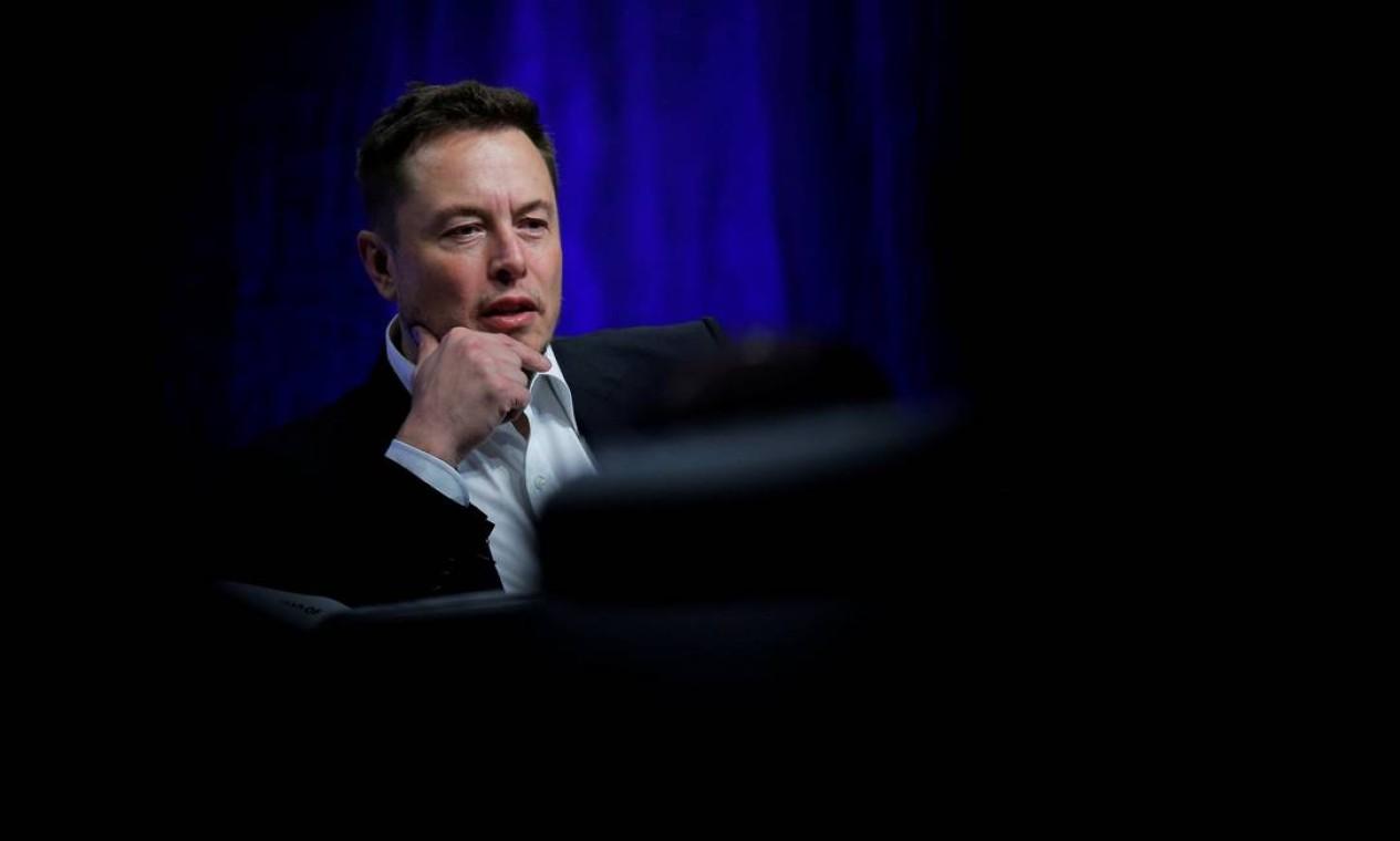 O empresário Elon Musk, fundador da Tesla, voltou à segunda colocação no ranking e agora tem uma fortuna de US$ 151 bilhões Foto: Brian Snyder / Reuters