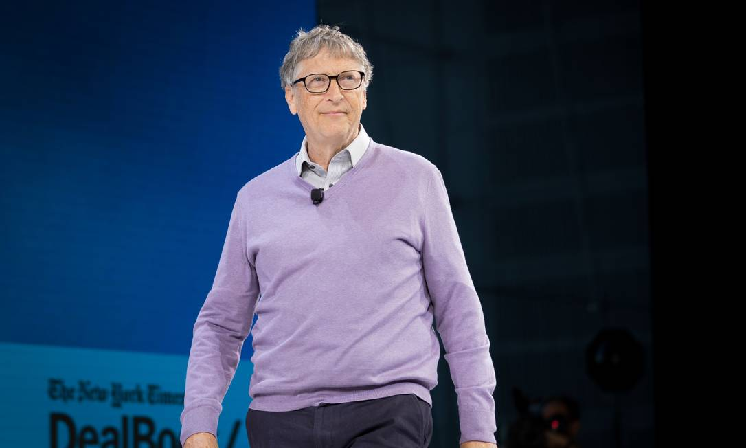 Bill Gates, fundador da Microsoft, tem fortuna de US$ 144 bilhões Foto: SAMUEL CORUM / Agência O Globo