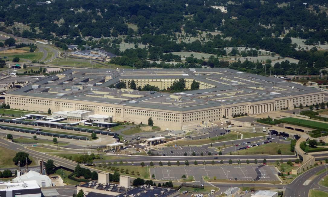 Pentágono, sede do Departamento de Defesa dos EUA, em imagem de agosto de 2013 Foto: SAUL LOEB / AFP