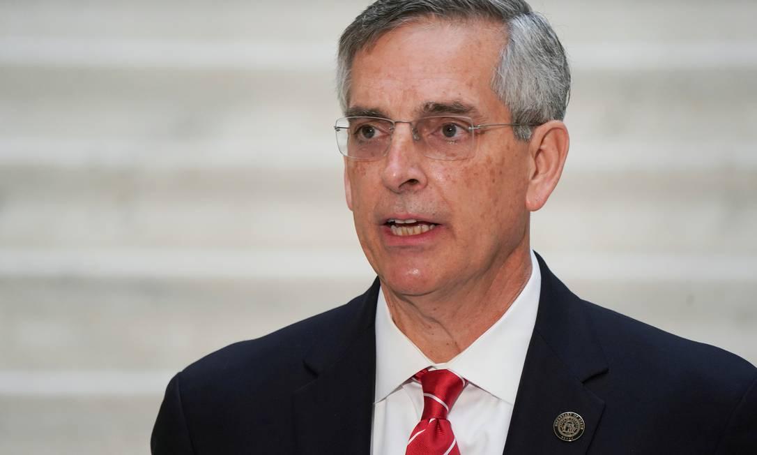 O secretário de Estado da Geórgia, Brad Raffensperger Foto: ELIJAH NOUVELAGE / REUTERS/02-12-2020