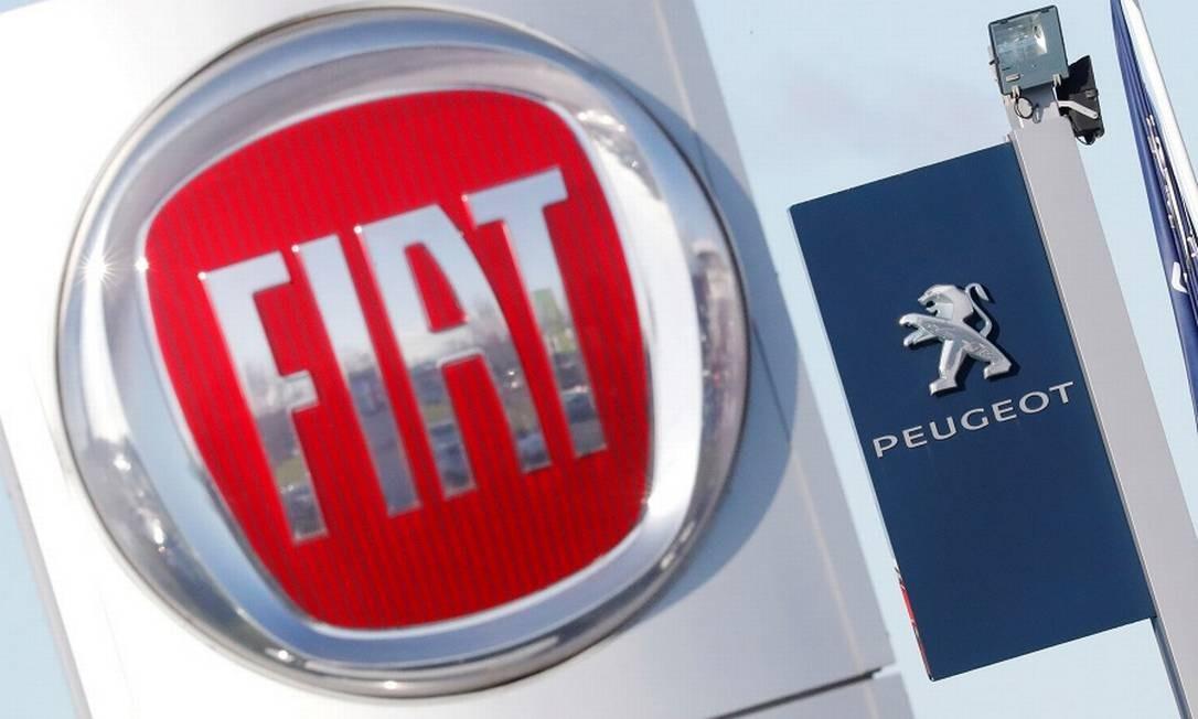 Fiat e Peugeot: acionistas da segunda já aprovaram união Foto: STEPHANE MAHE / REUTERS