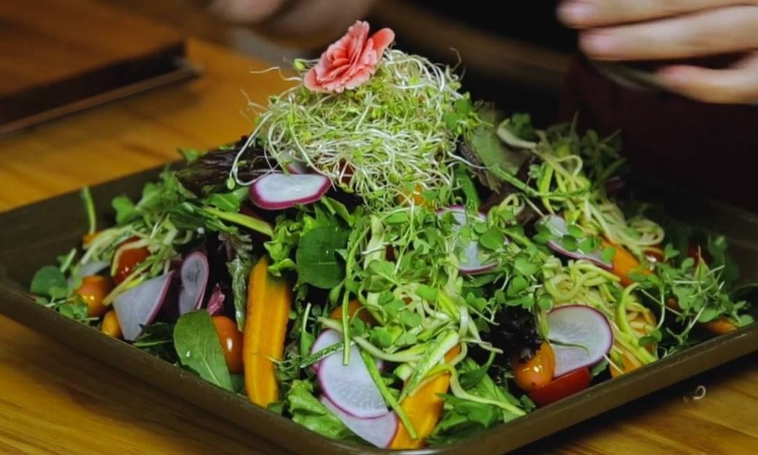 Salada de verão Malu Mello Foto: GLab