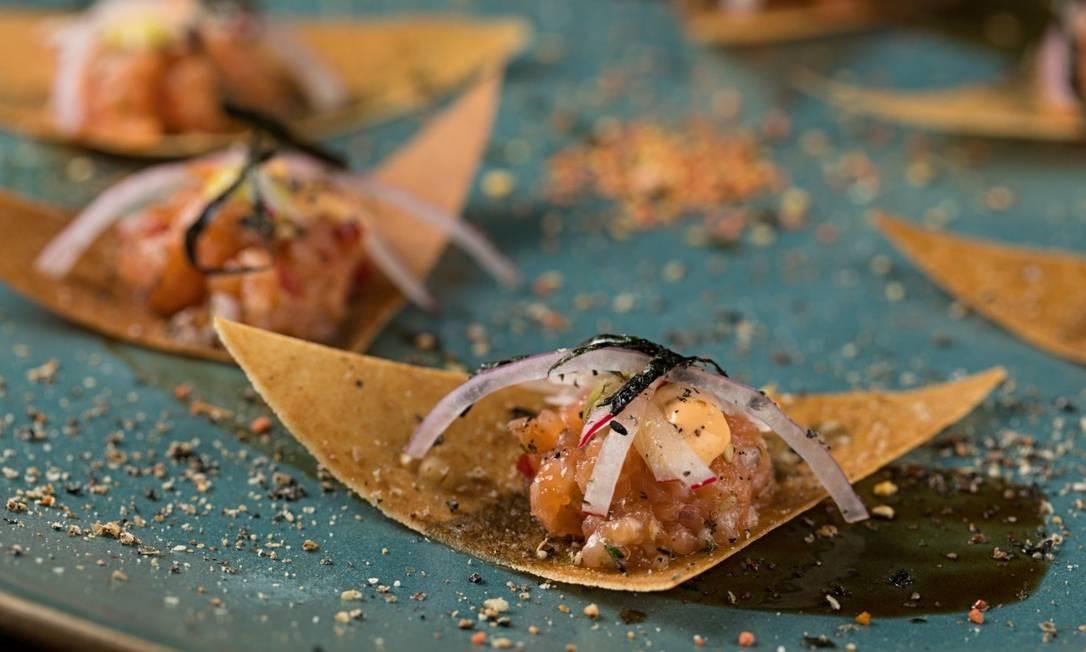 Nacho de atum: dica de Ana Zambelli para a entrada no restaurante Togu Foto: divulgação