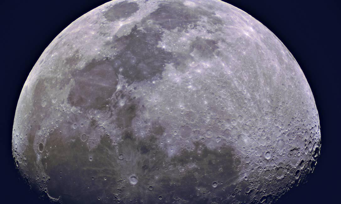 Close da Lua, feito em 2017, no Observatório do Valongo Foto: Daniel Mello/Observatório do Valongo UFRJ